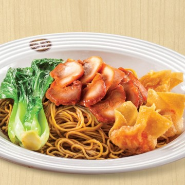 OLDTOWN BBQ Chicken Dry Egg Nodles with Fried Wonton(Rp45)
