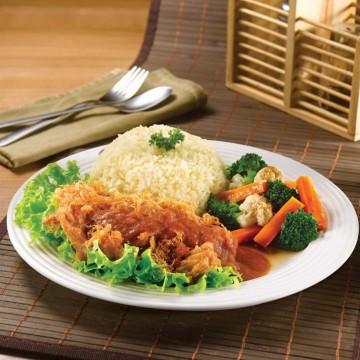 Spicy Chicken Chop Rice(Rp52)